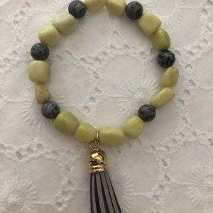 Bracelet yellow and gray